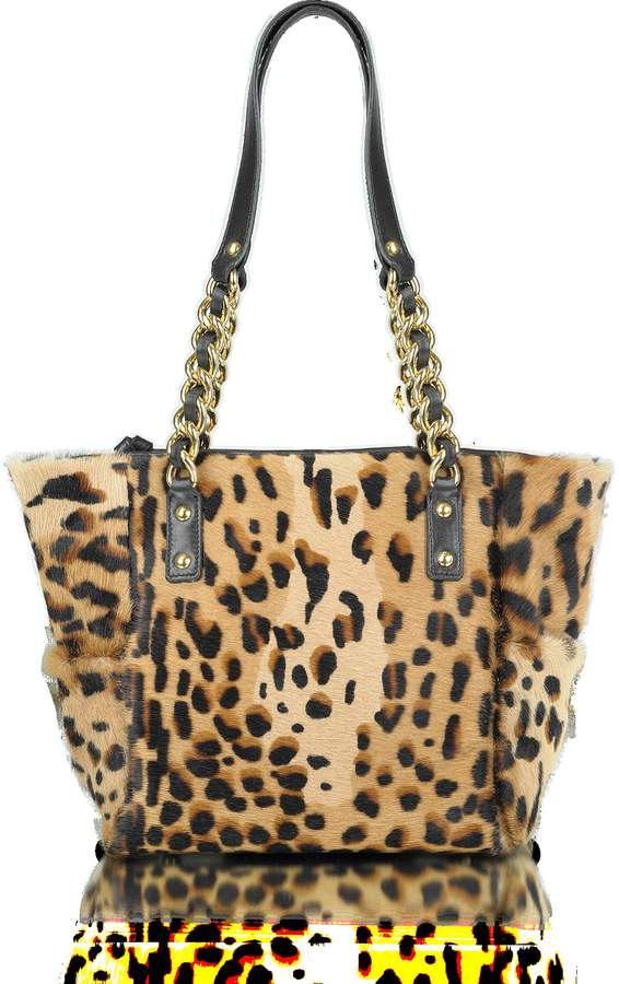 Fontanelli Calfhair Leopard Print Mini Tote