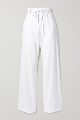 Tom Ford Wool-twill Wide-leg Pants - White