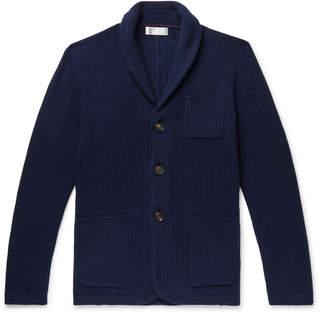 Brunello Cucinelli Shawl-Collar Wool-Blend Cardigan