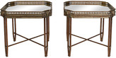 One Kings Lane Vintage Brass & Iron Rams Head Side Tables - I Dream in Vintage - brass/gold/mirrored