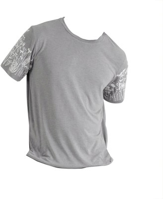 Good Krama   Circular Fashion Phka Upcycled Cotton T-shirt Unisex - Warm Grey