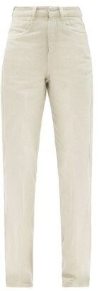 Lemaire Garment-dyed High-rise Straight-leg Jeans - Ivory