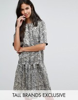 Y.A.S Tall Leaf Jacquard Top Co-Ord