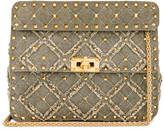 Valentino Medium Spike It Shoulder Bag in Army Green | FWRD