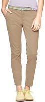 Gap Skinny mini skimmer khakis