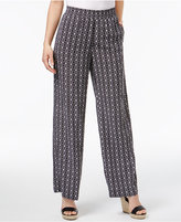 JM Collection Printed Pull-On Pants, Created for Macy's