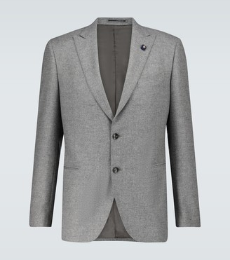 Lardini Single-breasted wool blazer