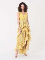 Diane von Furstenberg Carissa Silk-Chiffon Tiered Gown