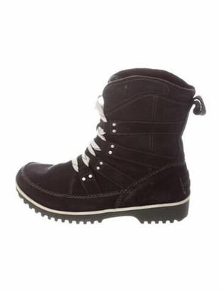 Sorel Suede Lace-Up Boots Black