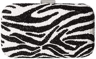 Alice + Olivia Shirley Embellished Clutch (Black/White) Handbags