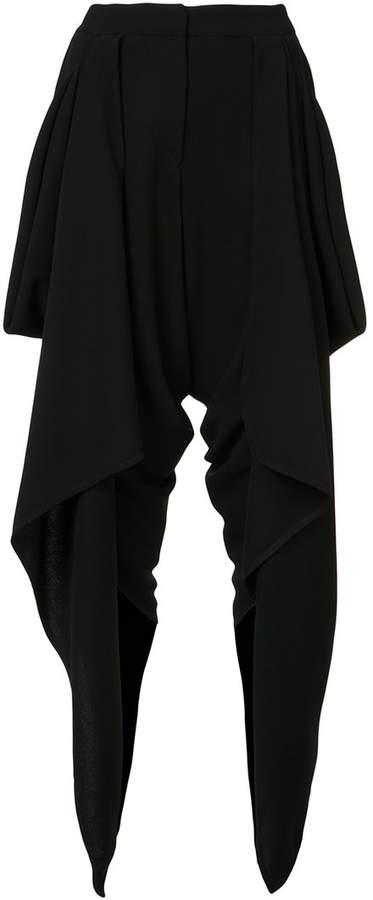 Gareth Pugh draped wrap cropped trousers