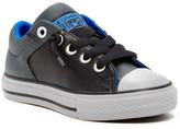 Converse Chuck Taylor High Street Slip Black Leather Sneaker (Little Kid & Big Kid)
