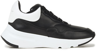 Alexander McQueen Runner Two-tone Leather Sneakers