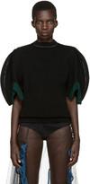 Toga Black Puff Sleeve Sweater