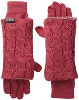 Muk Luks Women's Reversible Three-In-One Gloves