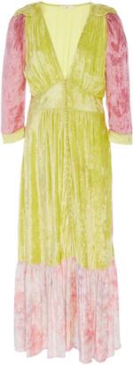 LoveShackFancy Avalon Mixed Print Dress