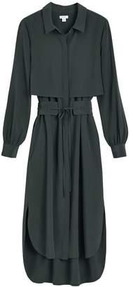 Silk High-Low Shirt Dress