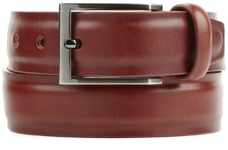 Tie Bar Solid Leather Cognac Belt