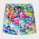 Paul Smith Men's Classic-Fit 'Paint' Print Long Swim Shorts