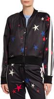 Pam & Gela Star Side-Stripe Raglan-Sleeve Crop Track Jacket