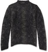 Isabel Benenato - Distressed Open-knit Sweater