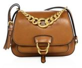 Miu Miu Medium Dahlia Madras Leather Saddle Bag