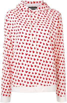 House of Holland X THE WOOLMARK COMPANY heart print hoodie