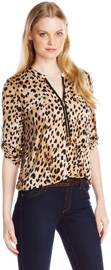 55d6a3ef Calvin Klein Roll Sleeve Blouse - ShopStyle Canada