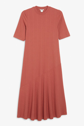 Monki Short sleeve midi dress
