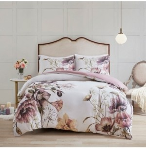 Madison Home USA Cassandra King/California King 3-Pc. Cotton Printed Duvet Cover Set Bedding