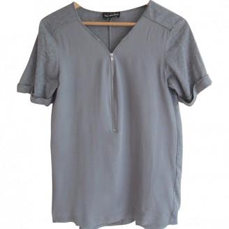 The Kooples Sport Grey Silk Top for Women