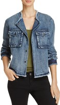 POL Frayed Denim Jacket