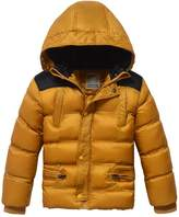 XiaoYouYu Big Boy's Patchwork Design Cotton Padded Thick Winter Coats US Size 10