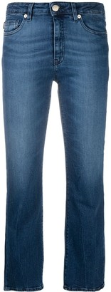 Love Moschino Logo Patch Cropped Jeans