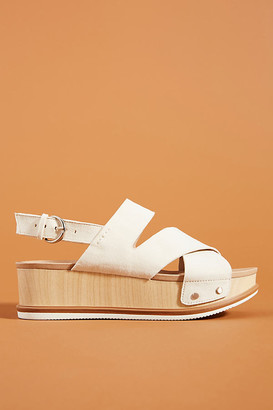 Dr. Scholl's Catching Rays Platform Slingback Sandals By in White Size 6