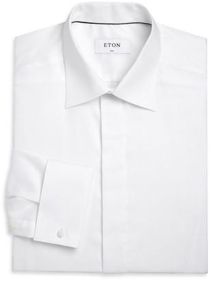 Eton Slim-Fit Formal Diamond Weave Dress Shirt