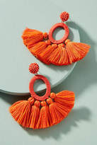 Anthropologie Hula Skirt Tasseled Drop Earrings