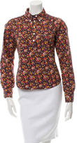 Marc Jacobs Floral Print Long Sleeve Top