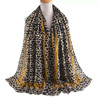 "Leopard Print Scarves For Women""s Animal Print Scarfs Long Neck Scarf By London Scarfs (Pink)"
