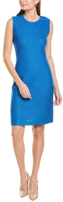 St. John Honeycomb Wool-Blend Sheath Dress