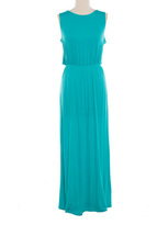 Aqua Open Cross-Back Maxi Dress