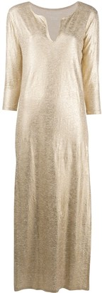 Majestic Filatures metallic maxi dress