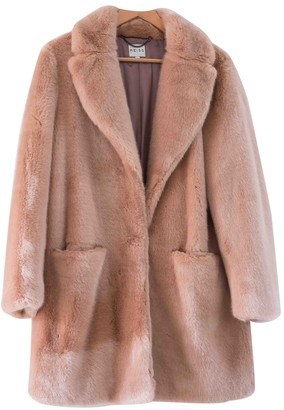 Reiss Pink Faux fur Coat for Women