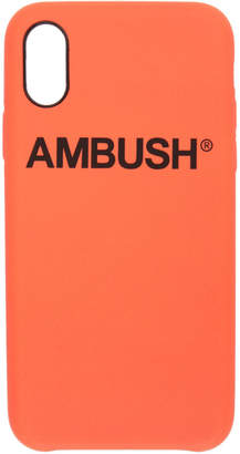 Ambush Orange Logo iPhone X Case