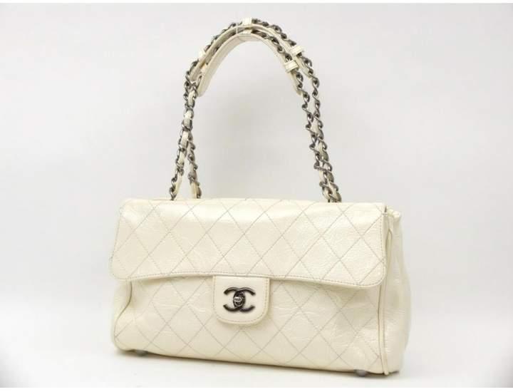 White Patent Leather Handbag