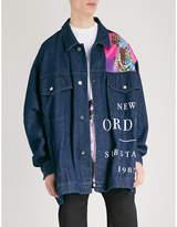 Raf Simons New Order oversized denim jacket
