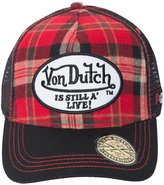 Von Dutch Men's Red Flannel Trucker Hat
