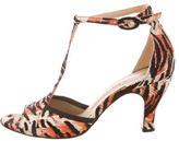 Repetto Printed T-Strap Sandals