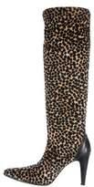 Nicole Miller Velvet Knee-High Boots