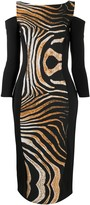 Chiara Boni Le Petite Robe Di animal-print cut-out dress